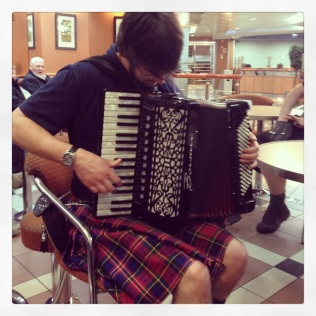 Nothing like a Scotsman in a kilt playing an accordion